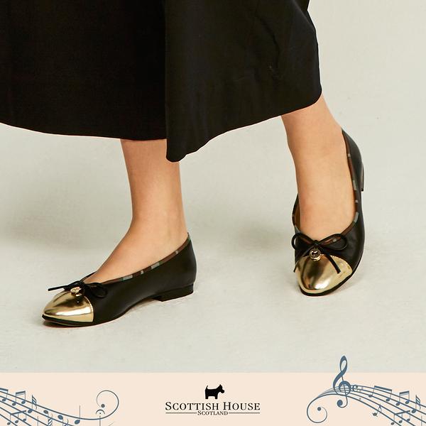 【Scottish House】 蝴蝶結 平底娃娃鞋 (AN4602)