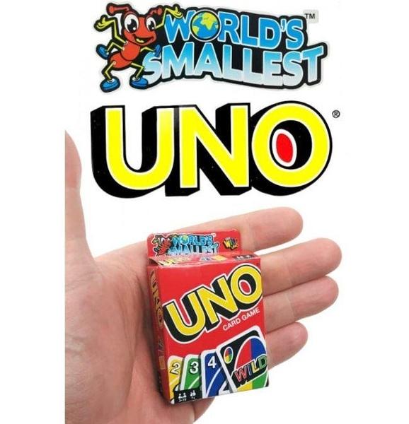 『高雄龐奇桌遊』 世界上最小的UNO遊戲卡 World's Smallest UNO 正版桌上遊戲專賣店