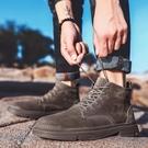 馬丁靴男高筒英倫風短靴2020夏季男鞋復古中邦鞋子男潮戶外工裝靴 蘿莉小腳丫