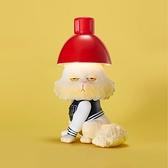 眼神死的燙頭貓(燈泡貓) 搪膠公仔