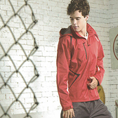 MILD STAR 男女運動休閒防水透氣刷毛裡外套-紅#JW405101