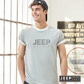 【JEEP】美式經典品牌文字短袖TEE 灰色 (合身版)