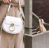 ■專櫃73折■全新真品■Chloe Tess 小款小山羊皮兩用包 白色