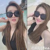 女士太陽眼鏡 太陽鏡女士潮眼鏡2018新款圓形個性女墨鏡開車圓臉韓國 芭蕾朵朵