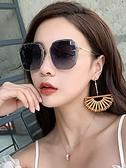 墨鏡 2021年新款ins墨鏡女偏光太陽眼鏡韓版潮圓臉防紫外線大臉顯瘦 韓國時尚週