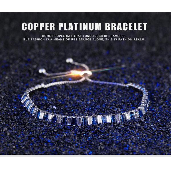 【5折超值價】時尚精美經典鑲鑽造型鍍白金女款手鍊