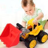 兒童玩具車沙灘滑行挖土機工程車寶寶小汽車挖掘機 男孩玩具套裝【聖誕節交換禮物】