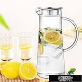 冷水壺耐熱防爆玻璃冷水壺 透明果汁涼水壺水杯杯子水瓶具套裝 城【快速出貨】