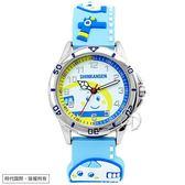 【台南 時代鐘錶 HELLO KITTY】新幹線百變英雄系列兒童手錶 KT016LWWN1 水藍 32mm