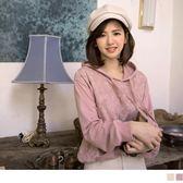 《AB8235》臧芮軒。純色拼接蕾絲口袋造型連帽上衣 OrangeBear