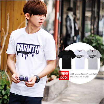 T恤 WARMTH溶化立體鋼印文字短T【N9920J】