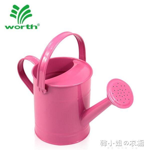 園藝灑水壺澆花壺澆水壺鐵質多肉灑水桶1.5L兒童澆水壺    韓小姐的衣櫥
