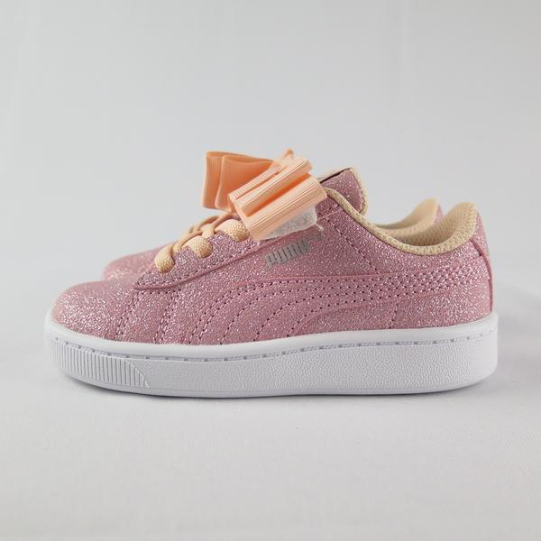PUMA VIKKY V2 RIBBON GLITZ AC 小童休閒鞋 蝴蝶結 37063502 金蔥粉【iSport】