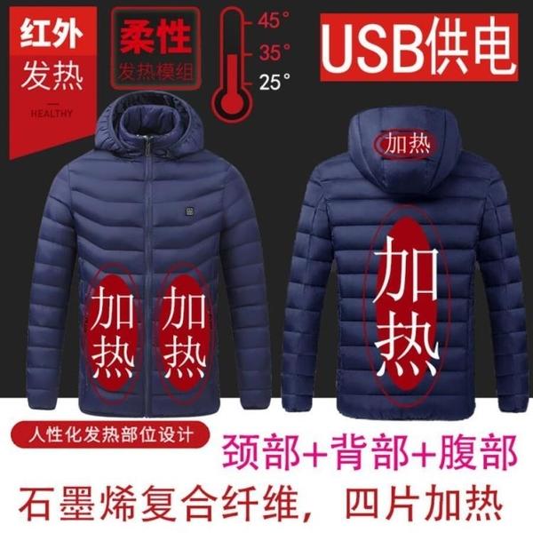 加熱外套南極人智慧發熱棉衣男女款加厚保暖外套中老年爸爸裝加熱羽絨棉服【全館免運】
