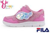FILA 運動鞋 童 天翼展翅 輕量 魔鬼氈 慢跑鞋M7636#粉◆OSOME奧森童鞋/小朋友