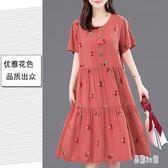 棉麻洋裝 2019夏季新款時尚氣質簡約原宿風中長款寬鬆連身裙女 YN633『易購3C館』