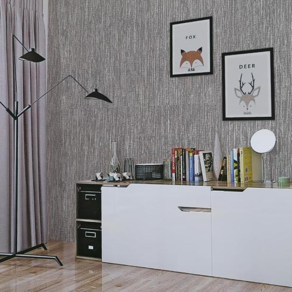牆紙壁布 現代簡約客廳臥室背景牆紙無縫牆布條紋素色素色牆布 喵小姐