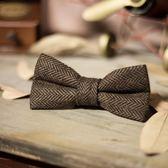 交換禮物 男士格子領結復古英倫時尚婚禮領結蝴蝶結男格紋領結