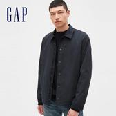 Gap男裝工裝風格翻領紐扣外套546670-經典海軍藍