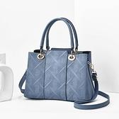 手提包 氣質中年女包新款時尚皮包大容量手提斜挎單肩媽媽包手拎大包【快速出貨八折搶購】