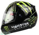 雙鏡片鬼爪全盔  Monster可安全機...