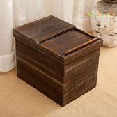 實木環保米缸 推拉式防潮防蛀保鮮米桶桐木 米箱面粉收納箱子新品 YL-WTSX142