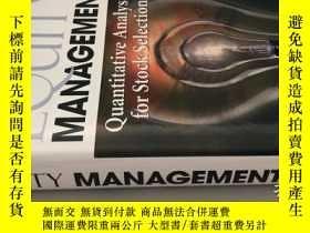 二手書博民逛書店Equity罕見Management: Quantitative