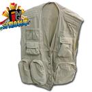 【映象攝影】攝影背心 卡奇色 XL號、L號尺寸 舒適 多功能多口袋 釣魚背心