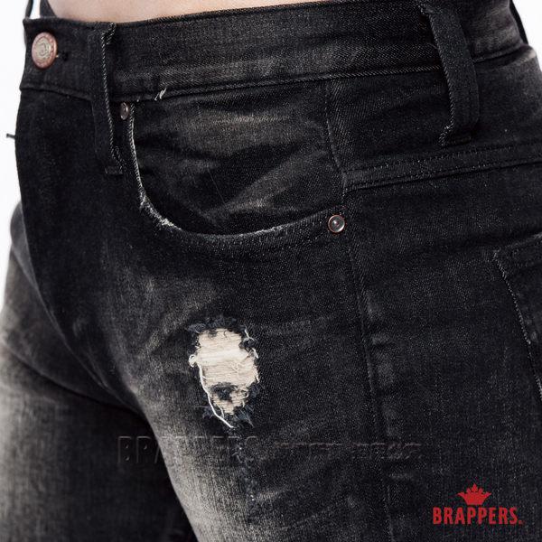 BRAPPERS 男款 HM中腰系列-中腰彈性直筒褲-深灰黑