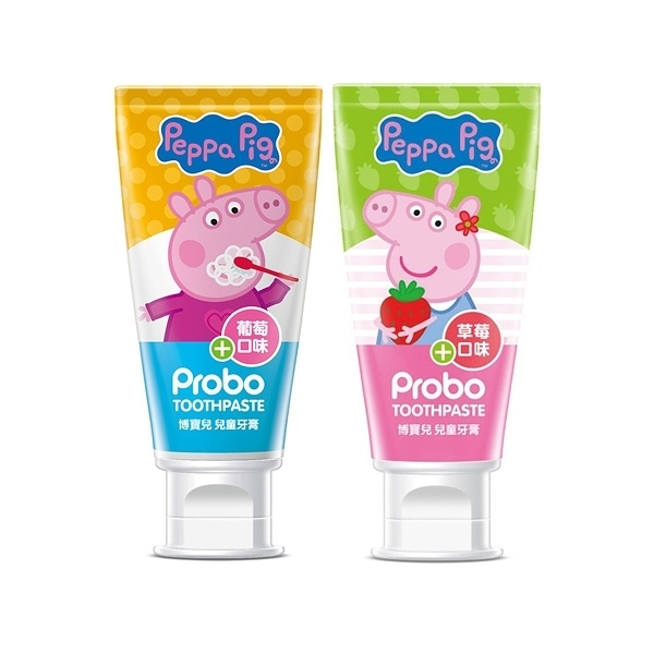快潔適 博寶兒兒童牙膏80g(佩佩豬) 葡萄口味/草莓口味 2款可選【小三美日】