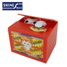 【日本正版】好運招財貓 偷錢箱 存錢筒 儲金箱 小費箱 招財貓 SHINE - 376985