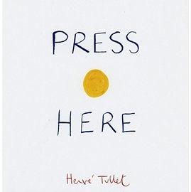 【麥克書店】PRESS HERE /精裝繪本(中譯:小黃點)《主題: 幽默.創意.想像》.