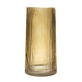 波紋玻璃花器 黃 30cm