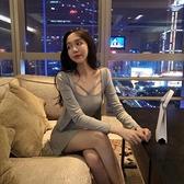 洋裝性感夜店女裝秋裝新款韓版顯瘦抹胸包臀洋裝時尚兩件套裝裙  【快速出貨】