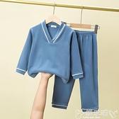 睡衣親子裝超舒適春秋冬男女兒童睡衣套裝德絨柔軟棉中大童寶寶家居服 嬡孕哺