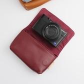 相機皮帶 RX100M6黑卡M7M5A皮套理光GR3佳能G7X3M2牛皮袋【免運直出】