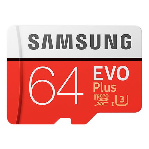 SAMSUNG三星 EVO PLUS microSDXC UHS-I 64GB 記憶卡