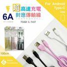 Type-C USB 台灣製造 高速充電傳輸線 (1M) 認證線 支援 6A