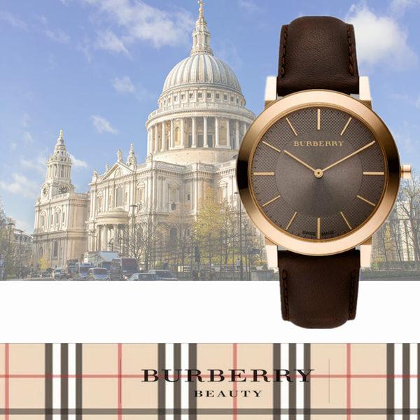 BURBERRY時尚英倫復古風腕錶BU9100