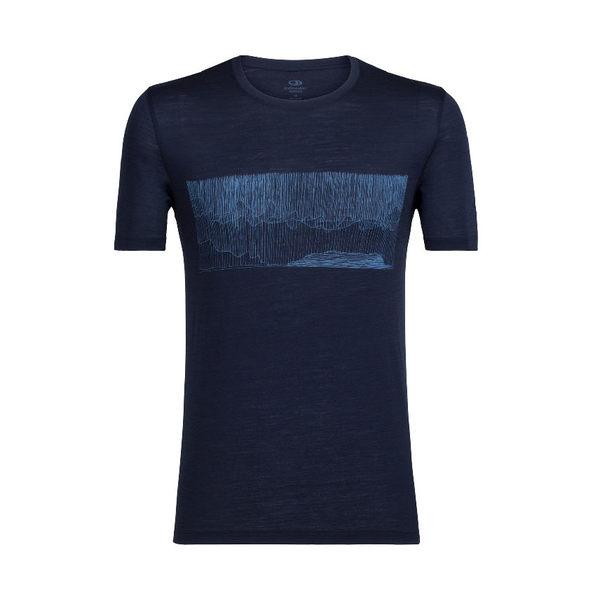 Icebreaker Tech Lite SS 美麗諾羊毛短袖排汗衣 男 風馳雨驟 深灰藍