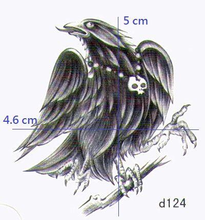 薇嘉雅 老鷹 超炫圖案紋身貼紙 d124