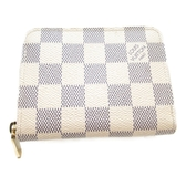LOUIS VUITTON LV 路易威登 白棋盤格 零錢包 Zippy Coin Purse N63069 【BRAND OFF】