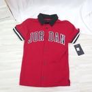 NIKE JORDAN 男童上衣 LOGO POLO衫 短袖T恤 JD2122065GS001 紅【iSport愛運動】
