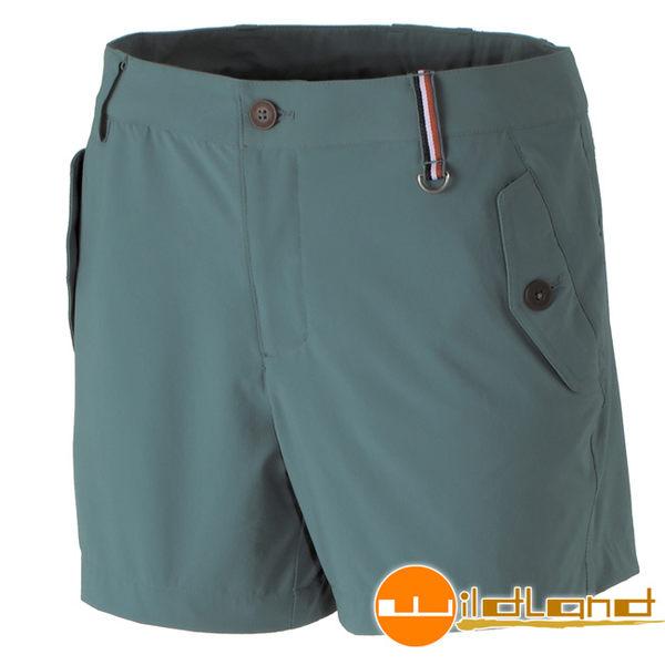 Wildland荒野 0A31397-37淺綠色 女RE四向彈性抗UV短褲