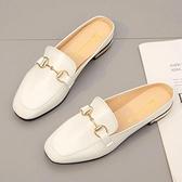 懶人包頭半拖鞋女外穿年新款春季韓版軟底百搭時尚網紅穆勒鞋「時尚彩紅屋」