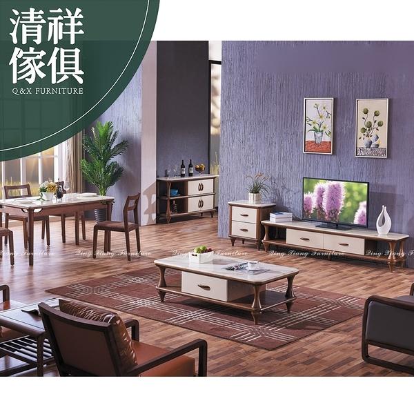 【新竹清祥傢俱】PLF-12LF94-現代時尚大理石電視櫃 客廳 置物櫃 收納櫃 設計師 無印 時尚 雙色造型