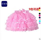 洋裝女童網紗半身裙子2018夏裝新款正韓兒童短裙公主蓬蓬裙舞蹈裙子三角衣櫥
