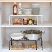 廚房置物架 用具小百貨伸縮分層隔板收納架衣柜置物架宿舍神器雜物架 df5551 【Sweet家居】