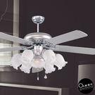 吊扇燈★60吋金屬質感花花6+1燈吊扇燈...