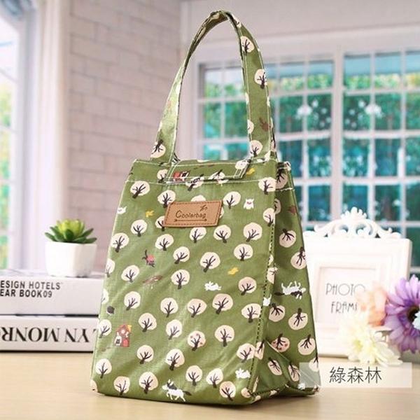 麋貳屋 造型時尚手提野餐袋-綠色森林